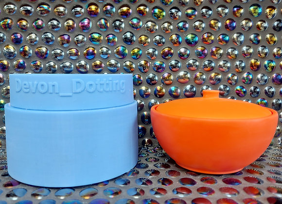 Medium round lidded bowl silicone mould, plaster mould, candle vessel mould, jes