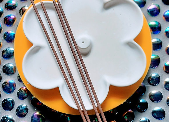 Flower incense holder silicone mould