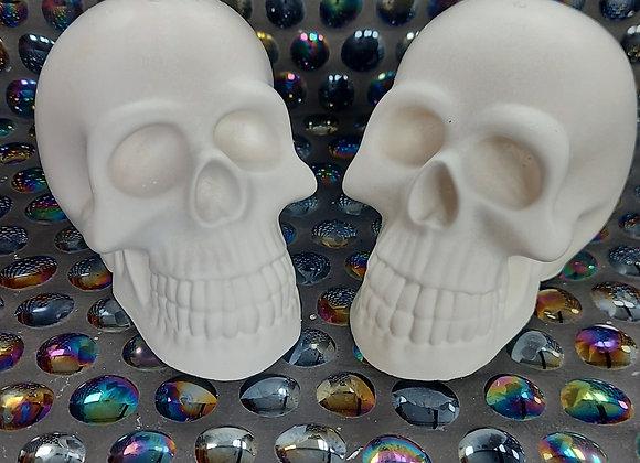 X2 unpainted plaster skull castings.