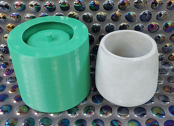 No hole,  Pot 2 , 80mm x 75mm round plant pot high quality silicone mould