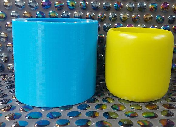 Candle vessel/Plant Pot silicone mould for concrete,  jesmonite mold,  plaster m