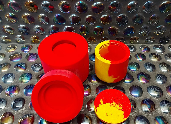 Small threaded pot and lid silicone mould