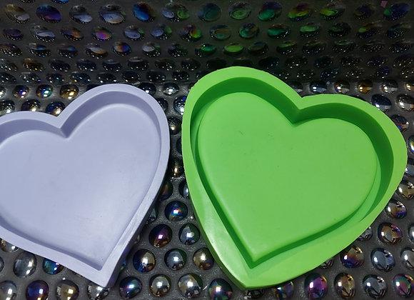 Silicone mold heart trinket dish/tray
