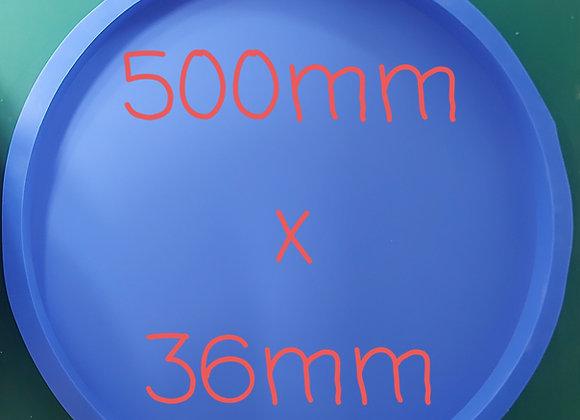 500mm round silicone  table top mould,  jesmonite and concrete.