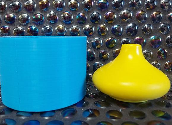 Short bud stem vase silicone mould