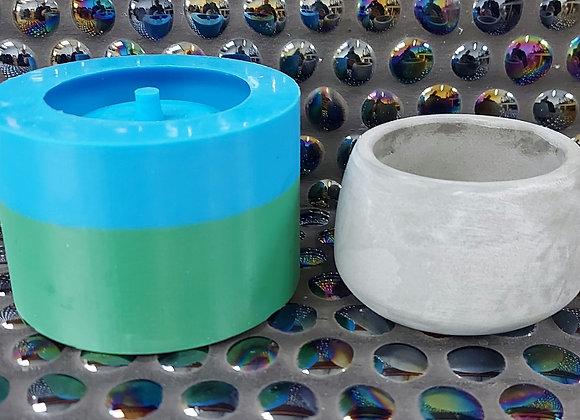 No hole,  Pot 3 , 75x50mm plant pot silicone mould