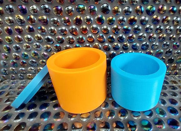 Medium lidded vessel wax refill silicone mould