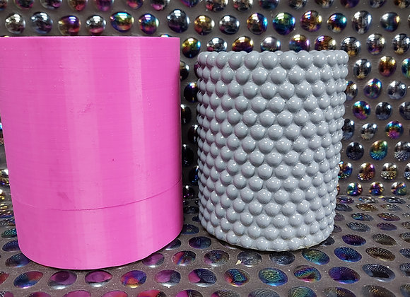 Ball bearings plant pot/candle vessel  silicone mould