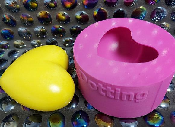 Small puffy heart silicone mould, plaster mould, concrete/ jesmonite mould