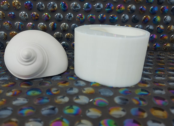 Medium 3d silicone snail shell mould