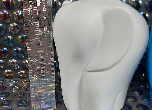 X2 Plain unpainted plaster elephant casting