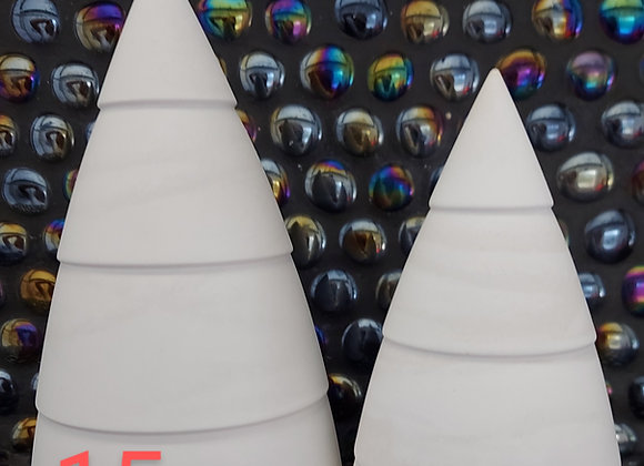 Plaster Christmas trees, Set of 2 paint your own trees