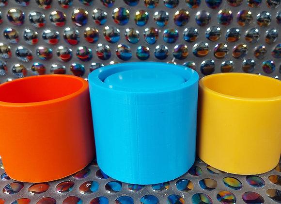 Plain candle vessel, plant pot, candle holder silicone mould