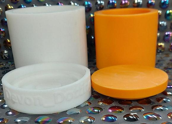 Medium lidded candles vessel, plant pot, storage pot. Silicone mold