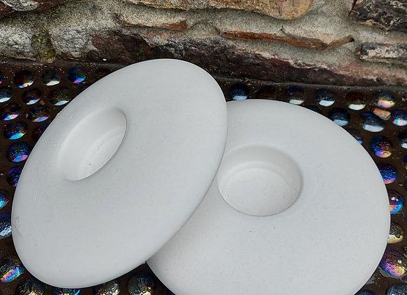 X2 Plaster casting of 150mm tea light holders