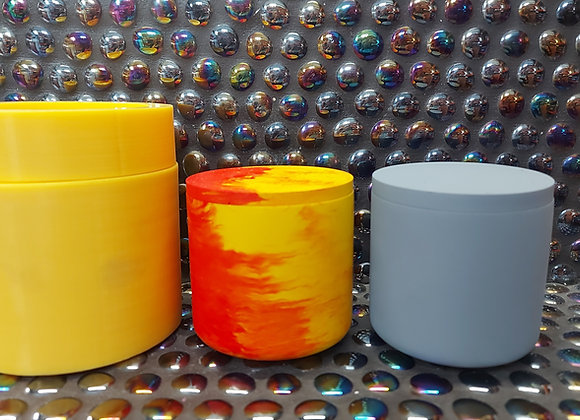 Large threaded pot and lid silicone mould