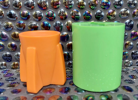 Tall Rocket shaped egg cup silicone mould