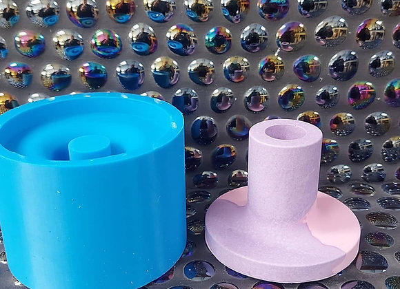 Tall straight candle stick holder silicone mould