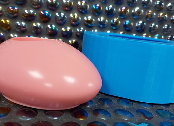 Oval pebble shaped tea light holder silicone mould