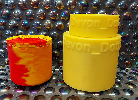 Medium threaded pot and lid silicone mould