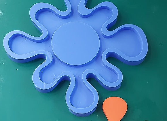 Splat mirror frame silicone mould