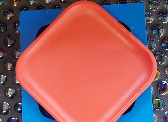 Small Square silicone mold tray for plaster, jesmonite mold , concrete mold tri