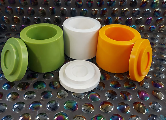 Small cylinder lidded pot silicone mold