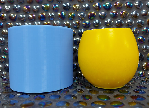 Barrel tealight holder silicone mold for plaster. Concrete mold , jesmonite mol