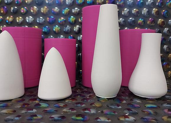 Fantasy mushroom silicone mould set.