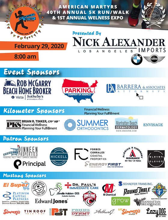 Sponsors of the 5K Event