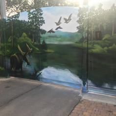 живопись аэрозолью на воротах