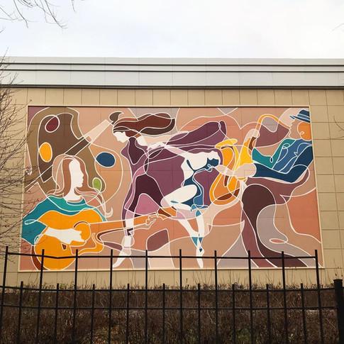 Роспись фасада граффити