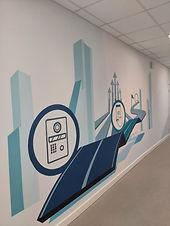 Графика на стенах офиса
