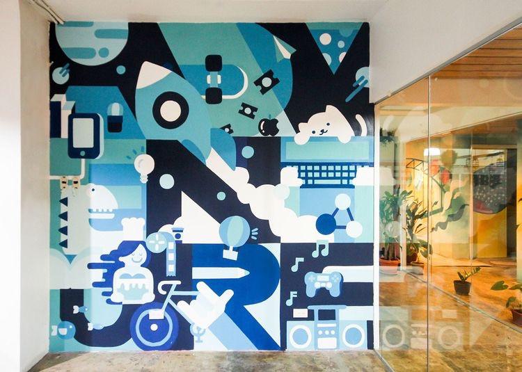 иллюстрация в офисе