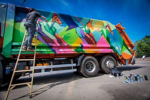 граффити оформление грузового авто