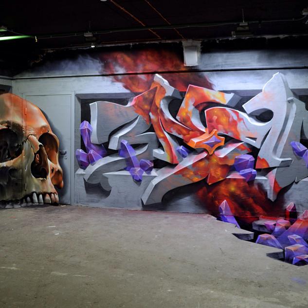3Д граффити фото
