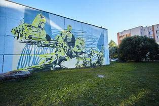 Граффити на электрических подстанциях и будках во Пскове.