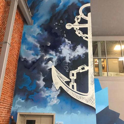 роспись стен ледовой арены в спб