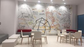 Роспись офисов в технопарке Сколково