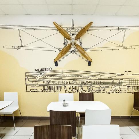 Роспись стен в кафе
