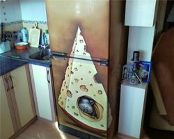 граффити на холодильник