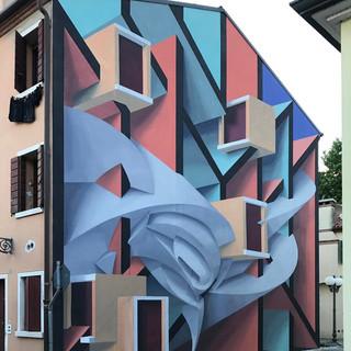 3D граффити на фасаде от  Peeta