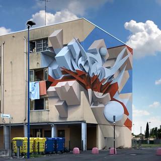 невероятный фасад с 3д рисунком