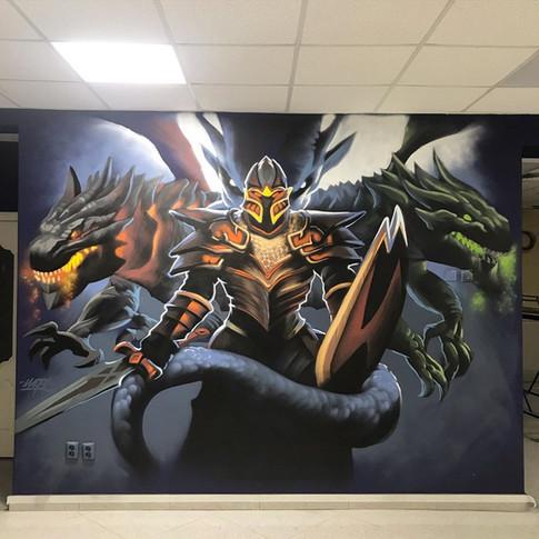 граффити оформление в компьютерном клубе