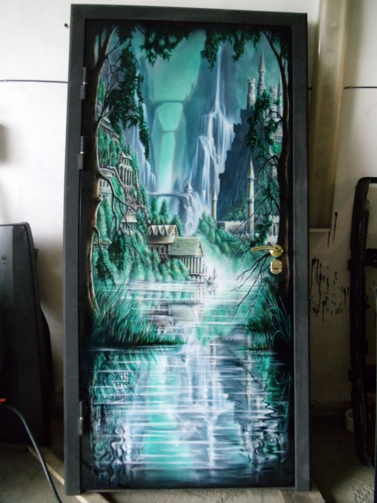 граффити роспись холодильника