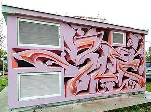 3Д граффити на ЦТП