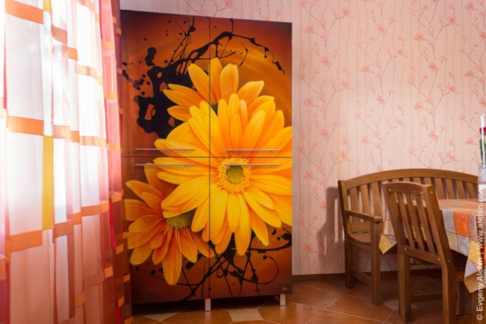 роспись кухонного шкафа