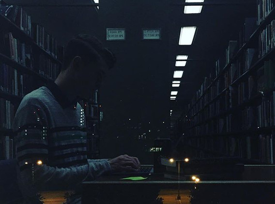 Late Night in the Library