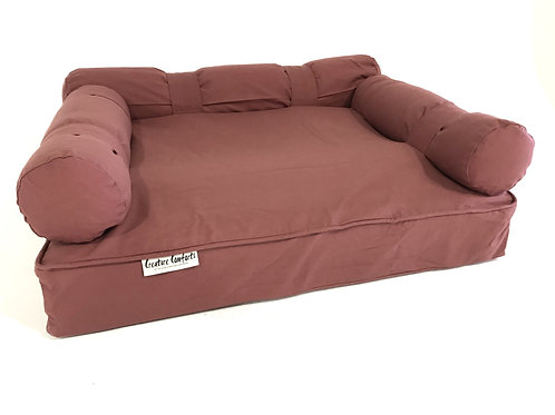 Eco dog Couch - LARGE - Rusty Rose