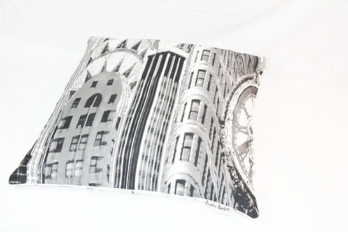 Vintage New York City Scape - Eco Cushion - LARGE